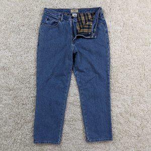Vintage LL Bean Flannel Lined Jeans Men 36x29 A29